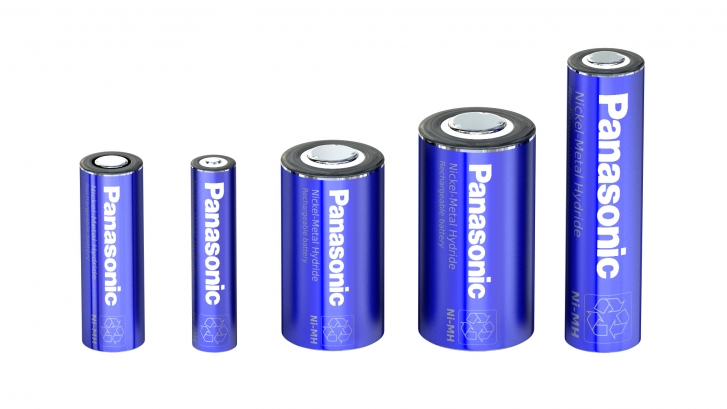 Ni-MH batteries from Panasonic can be use in a broad temperature range and have excellent charge characteristics even at high temperatures.