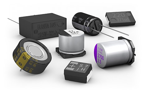 Capacitor Products Group of Polymer, Aluminum, Gold EDLC and Film Capacitors
