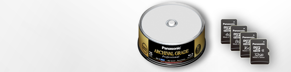 High reliability Storage Solutions Panasonic Blu-Ray ADA SD-Card