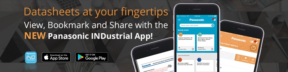 View, Bookmark and Share with the NEW Panasonic INDustrial App!